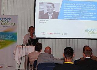 Sabine Wolfsgruber informiert über Vorteile einer betrieblichen Umweltberatung