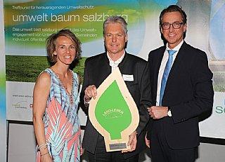 Energie: Land-Leben (vlnr) S. Wolfsgruber, F. Bliem (GF) und L. Schitter (Salzburg AG)