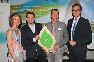 Energie: Leoganger Bergbahnen (vlnr) S. Wolfsgruber, K. Grundner (GF), C. Oberlader, L. Schitter (Salzburg AG)