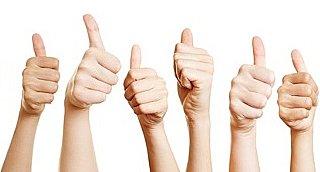 Über 90 Prozent aller befragten Kunden sind sehr zufrieden!