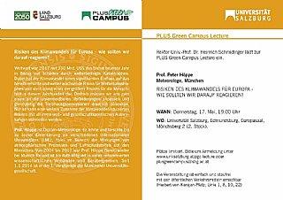 PLUS Green Campus Lecture © Uni Salzburg