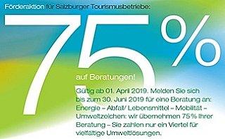 75% Förderung für Tourismusbetriebe