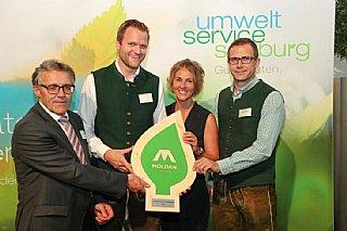 v.l. Kurt Nadeje,GF Moldan Johann Eder,Sabine Wolfsgruber, Matthias Poldlehner © uss_Neumayr