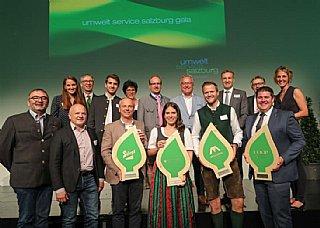 Vier Umweltblätter für Salzburger Unternehmen