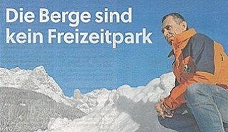 Tritscher Bernd fordert mehr Eigenverantwortung und Respekt statt weiterer Erschließungen. © Salzburger Nachrichten/Andreas Rachersberger