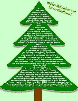 Ökologischer Wert eines Christbaumes © uss