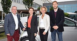 LH-Stv. H. Schellhorn, A. Lamprechter (GF GWS), S. Wolfsgruber (GF umwelt service salzburg) und W. Summerer (Klima- & Energiestrategie SALZBURG 2050)