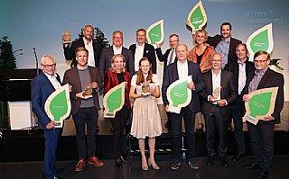 Vier umwelt blätter2021 für Trumer, Schlosserei Hasenöhrl, Seitenalm & Digital Elektronik